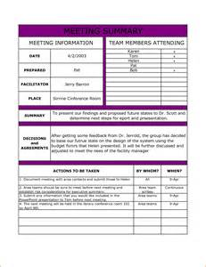 meeting recap template doc 555717 meeting summary template meeting minutes