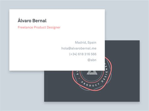 Business Card Templates For Freelancers by 45 Simple Business Card Designs With Clean Typography