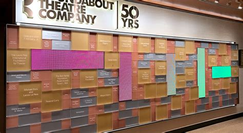 donor wall creates flair recognition enhance  colour