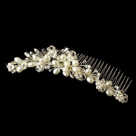 ivory rhinestone bridal comb 4008