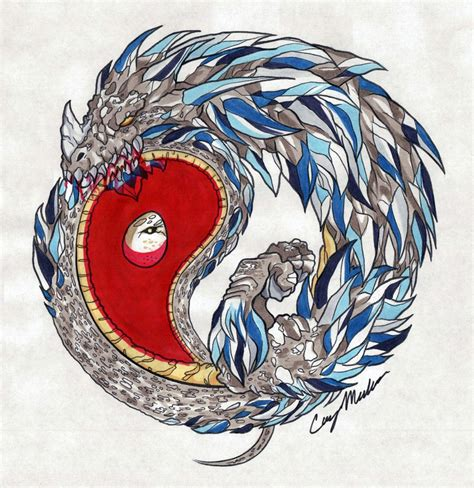 yin yang ouroboros colored by narcissustattoos on deviantart