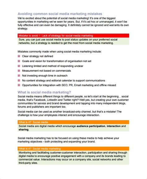 8 Sle Content Strategy Templates Sle Templates Content Strategy Template