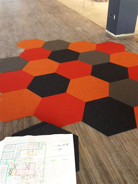 hexagon rug shaw hexagon tiles pinterest orange rugs