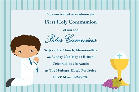 holy communion invitation templates holy communion invitation wording custom invitations