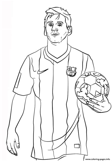 Soccer Coloring Pages For by Lionel Messi Soccer Coloring Pages Printable