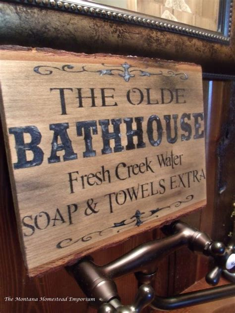western home decor rustic old west style signs the olde bathhouse sign montana sign rustic old west ghost