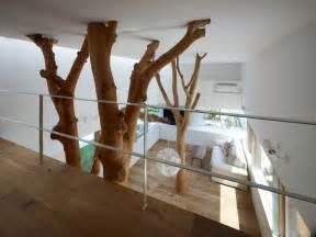 Modern tree house living room inside