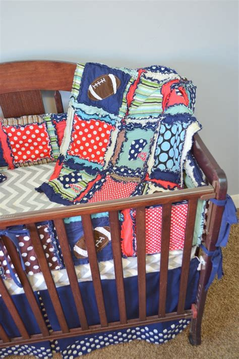 Football Crib Set by Football Nursery Baby Crib Bedding Brown Navy