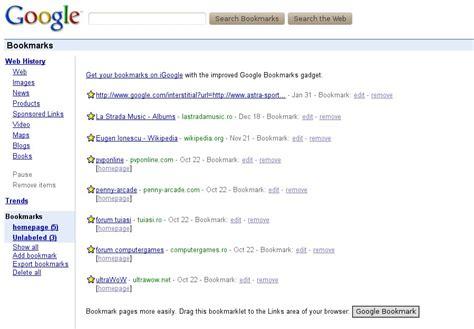 google images favorites google bookmarks gets a rev