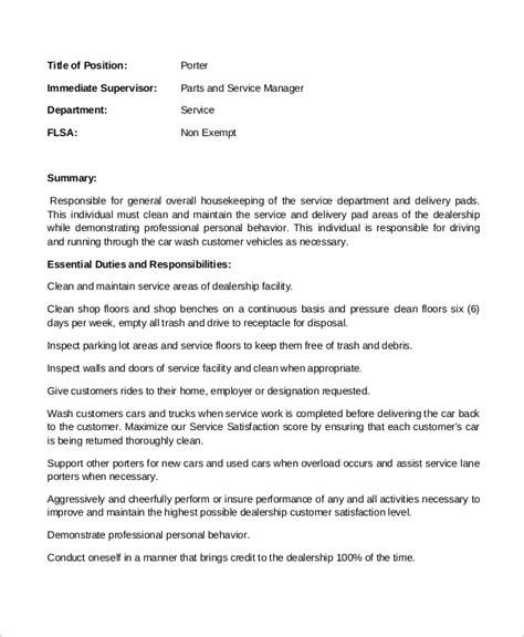 Dealership Porter Cover Letter by Porter Description Building Porter Description Resume Best 25 Description Ideas On