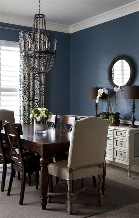 best dark blue paint for dining room before after open plan dining room entry heather