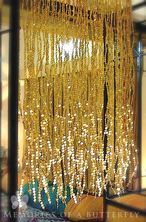 gold beaded curtain antique chagne gold mini bead curtain