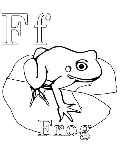 frog coloring page for preschool color the frog letter of the week pinterest frogs