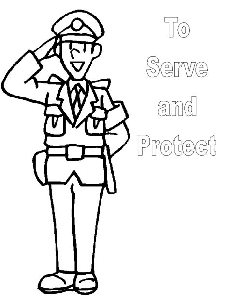 thank you coloring page for police officer police officer coloring pages clipart panda free