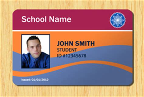 Student Id Template 5 Other Files Patterns And Templates Id Card Template Photoshop