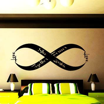 Wall Sticker Infinity Home Decal Room Decor 1 shop bedroom decals infinity on wanelo