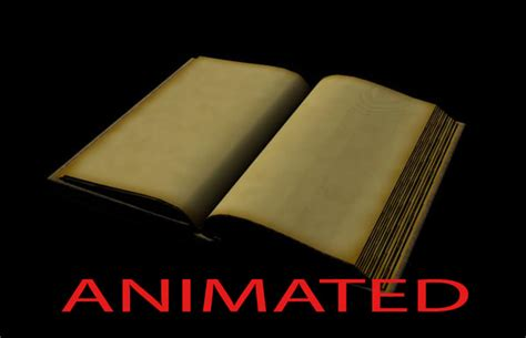 animated picture of a book open book 3d model