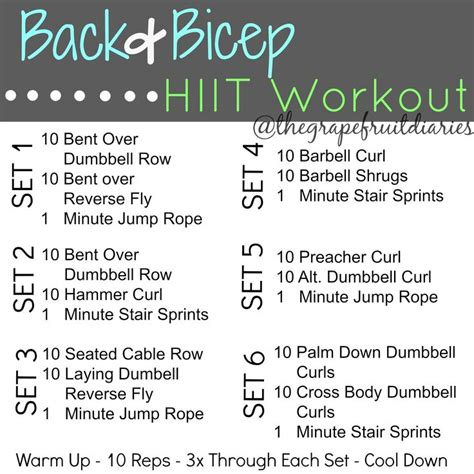 back and bicep workout for search hiit