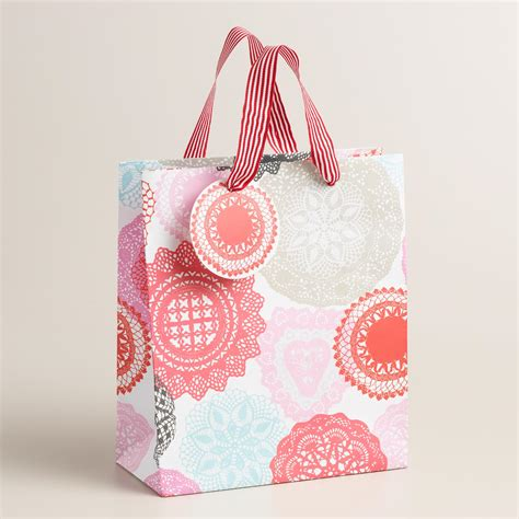 valentines day gift bags valentines day doily gift bags set of 2 world market