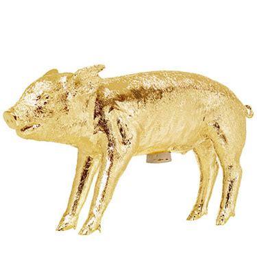 Bank in the Shape of a Pig   Gold: NOVA68.com