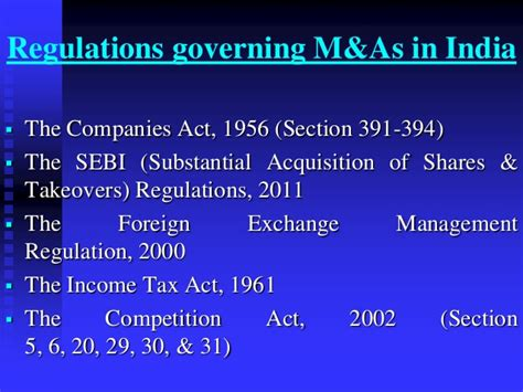 section 31 of income tax act mergers acquisitions in pharmaceutical sector