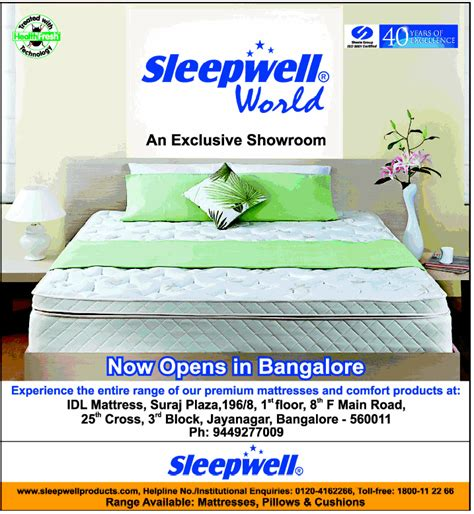 Sleepwell Mattress Delhi by Sleepwell Sale Mumbai New Delhi Bangalore Saleraja