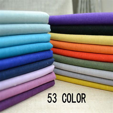 53color 140cm 50cm solid color nature linen cotton fabric