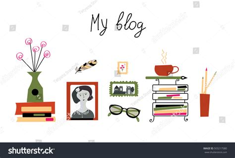 design banner blog blog banner photographer writer girly cute stock vector
