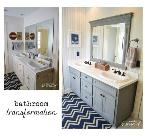 bathroom transformations my boys bathroom transformation sincerely sara d