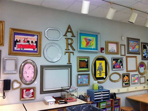 135 best images about ideas work framing alternative erina apex elementary art wall of frames for student artwork
