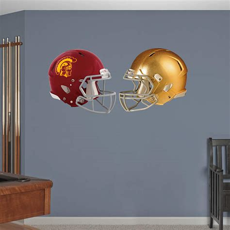 Notre Dame Room Decor by Notre Dame Usc Rivalry Pack Wall Decal Shop Fathead