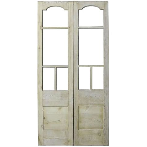 Pair Of Antique Exterior Pine Double Doors For Sale At 1stdibs Antique Exterior Doors For Sale