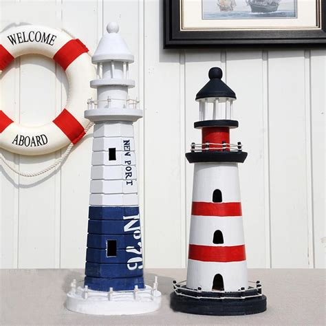 lighthouse home decor mediterranean style creative big size wooden lighthouse