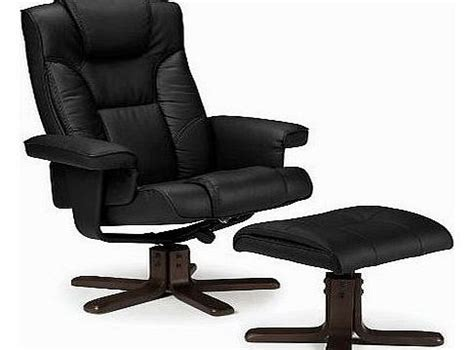julian bowen malmo recliner and footstool black chair and footstool