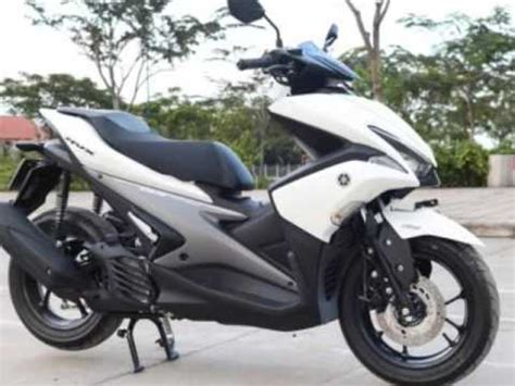 Modifikasi Aerox Warna Putih by Yamaha Aerox 155 Warna Putih Serba Runcing Guys