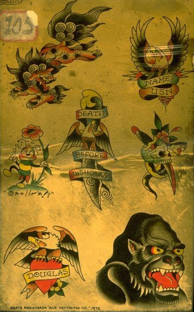 tattoo flash archive 1970s hardy marks publications and don ed hardy archive