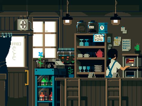 Pixel Kitchen by Le Japon En Gif 8bits Et Anim 233 Pixel Tv