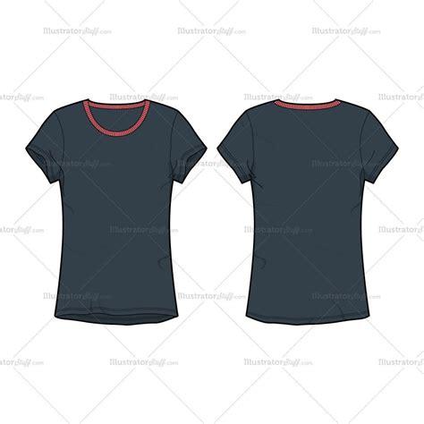 adobe illustrator shirt template women s round neck t shirt fashion flat template