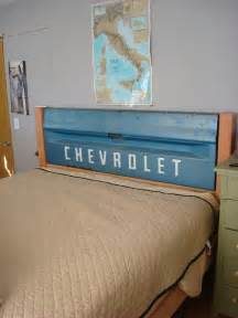 tailgate headboard for a boys room