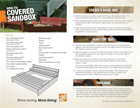 building a sandbox the home depot community