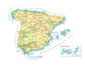 Spain Map With Cities by Maps Of Spain Detailed Map Of Spain In English Tourist