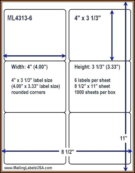 2x4 Shipping Label Template