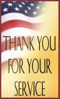 Thank you for your service to our country