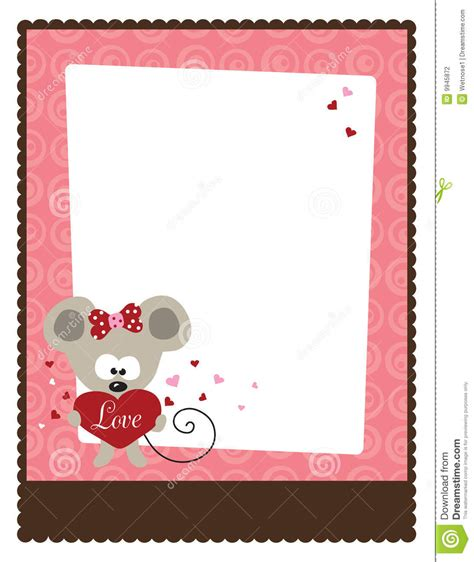valentines day card template publisher 8 5x11 s day flyer template stock vector