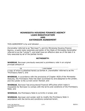 loan extension agreement fill printable