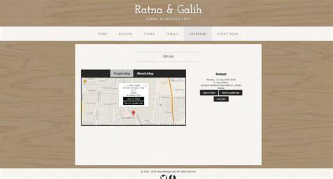 template denah undangan desain undangan online box simple wedding website template