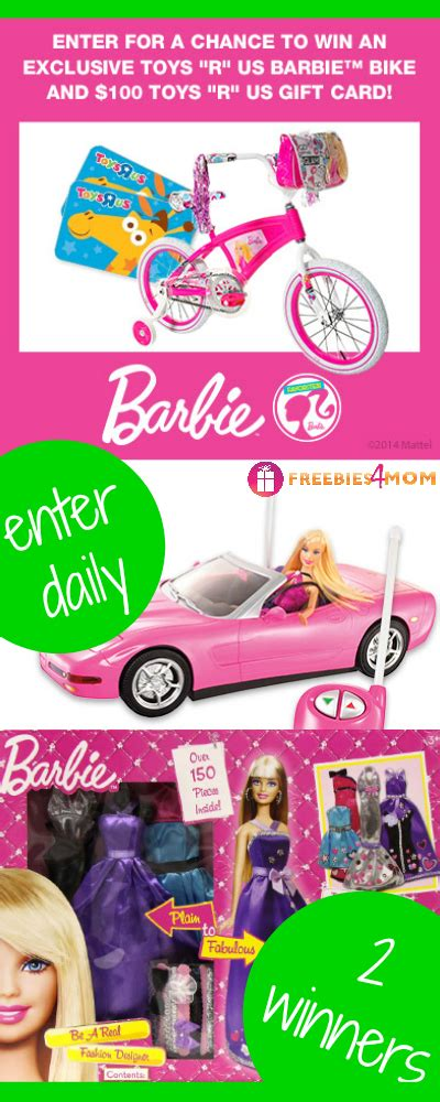 Toys R Us Gift Card Giveaway - barbie bike and 100 toys r us gift card giveaway
