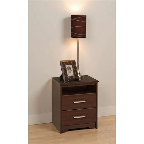 prepac monterey 23 25 inch x 28 inch x 16 inch 2 drawer nightstand in white the home depot canada