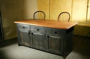 Kitchen Wood Furniture by Hand Crafted Rustic Barn Wood Kitchen Island By