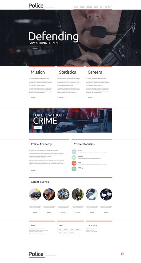 templates for police website police responsive website template 48991